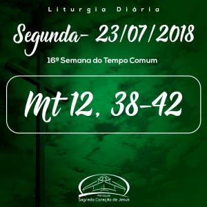 16ª Semana do Tempo- 23/07/2018 (Mt 12,38-42)