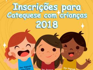 Inscrições para Catequese com crianças 2018