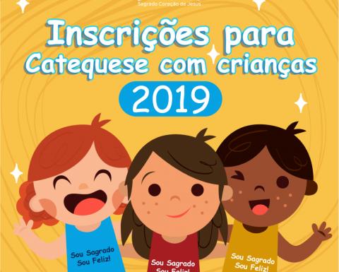 Inscrições para Catequese com crianças 2019