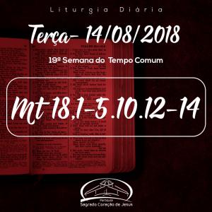 19ª Semana do Tempo Comum- 14/08/2018 (Mt 18,1-5.10.12-14)