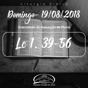 Solenidade da Assunção de Maria- 19/08/2018 (Lc 1,39-56)