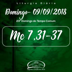 23º Domingo do Tempo Comum- 09/09/2018 (Mc 7,31-37)