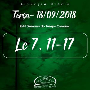 24ª Semana do Tempo Comum- 18/09/2018 (Lc 7,11-17)