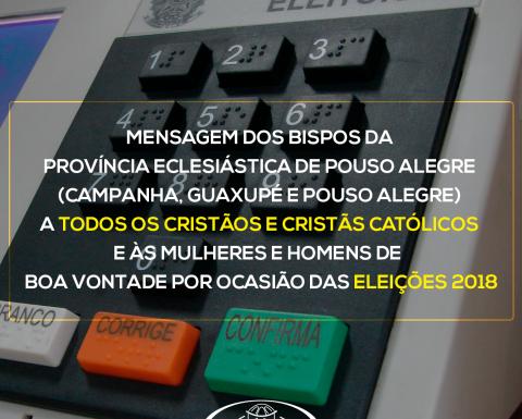Mensagem dos bispos da Província Eclesiástica de Pouso Alegre para as Eleições 2018