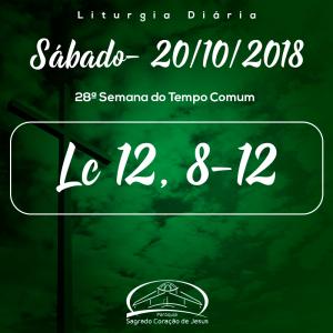 28ª Semana do Tempo Comum- 20/10/2018 (Lc 12,8-12)