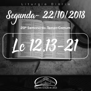 29ª Semana do Tempo Comum- 22/10/2018 (Lc 12,13-21)