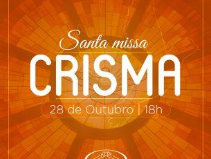 Convite missa de Crisma 2018