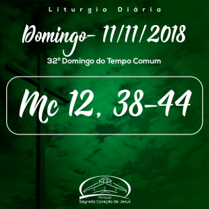 32º Domingo do Tempo Comum- 11/11/2018 (Mc 12,38-44)