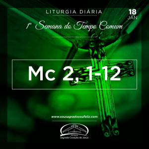 1ª Semana do Tempo Comum- 18/01/2019 (Mc 2,1-12)