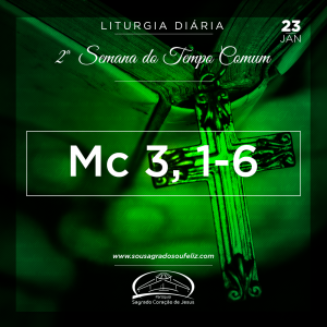 2ª Semana do Tempo Comum- 23/01/2019 (Mc 3,1-6)