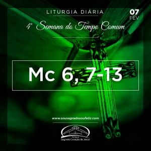 4ª Semana do Tempo Comum- 07/02/2019 (Mc 6,7-13)