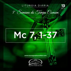 5ª Semana do Tempo Comum- 15/02/2019 (Mc 7,31-37)