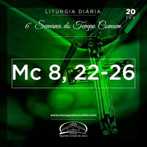 6ª Semana do Tempo Comum- 20/02/2019 (Mc 8,22-26)