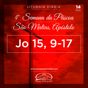 4ª Semana da Páscoa - Terça-feira (São Matias)- 14/05/2019 (Jo 15,9-17)