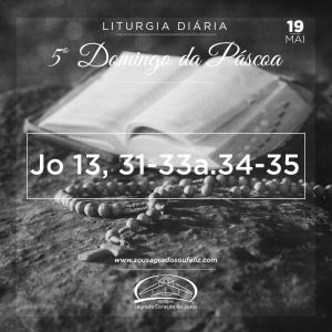 5º Domingo da Páscoa- 19/05/2019 (Jo 13,31-33a.34-35)