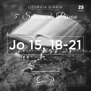 5ª Semana da Páscoa - Sábado- 25/05/2019 (Jo 15,18-21)