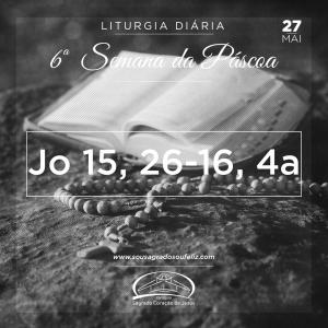 6ª Semana da Páscoa - Segunda-feira 27/05/2019 (Jo 15,26–16,4a)