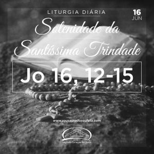 Solenidade da Santíssima Trindade - Domingo- 16/06/2019 (Jo 16,12-15)