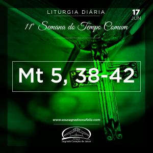 11ª Semana do Tempo Comum - Segunda-feira- 17/06/2019 (Mt 5,38-42)