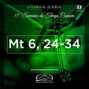 11ª Semana do Tempo Comum - Sábado- 22/06/2019 (Mt 6,24-34)