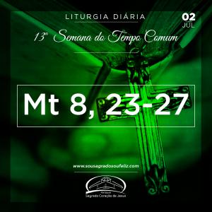 13ª Semana do Tempo Comum - Terça-feira- 02/07/2019 (Mt 8,23-27)