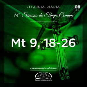 14ª Semana do Tempo Comum - Segunda-feira- 08/07/2019 (Mt 9,18-26)