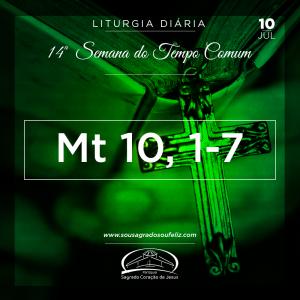 14ª Semana do Tempo Comum - Quarta-feira- 10/07/2019 (Mt 10,1-7)
