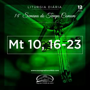 14ª Semana do Tempo Comum - Sexta-feira 12/07/2019 (Mt 10,16-23)