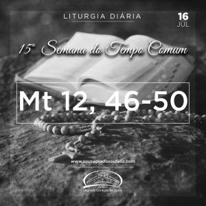 15ª Semana do Tempo - Terça-feira 16/07/2019 (Mt 12,46-50)