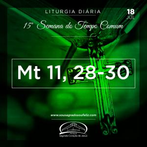 15ª Semana do Tempo Comum - Quinta-feira- 18/07/2019 (Mt 11,28-30)