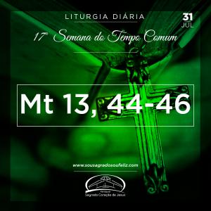 17ª Semana do Tempo Comum - Quarta-feira- 31/07/2019 (Mt 13,44-46)