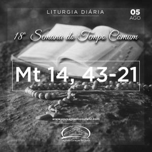 18ª Semana do Tempo Comum - Segunda-feira- 05/08/2019 (Mt 14,13-21)