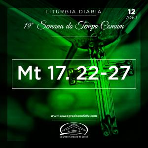 19ª Semana do Tempo Comum - Segunda-feira- 12/08/2019 (Mt 17,22-27)