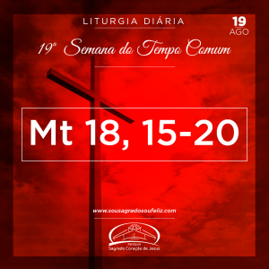 19ª Semana do Tempo Comum - Quarta-feira- 14/08/2019 (Mt 18,15-20)