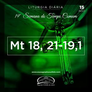 19ª Semana do Tempo Comum - Quinta-feira- 15/08/2019 (Mt 18,21–19,1)
