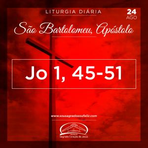 São Bartolomeu, Apóstolo- Sábado 24/08/2019 (Jo 1,45-51)