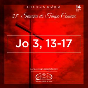 23ª Semana do Tempo Comum- Sábado- 14/09/2019 (Jo 3,13-17)