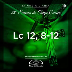 28ª Semana do Tempo Comum - Sábado- 19/10/2019 (Lc 12,8-12)