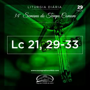 34ª Semana do Tempo Comum - Sexta-feira- 29/11/2019 (Lc 21,29-33)