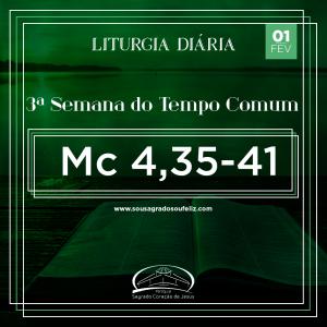 3ª Semana do Tempo Comum - Sábado- 01/02/2020 (Mc 4,35-41)