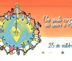 Gesto concreto de amor a Nossa Senhora com as crianças e jovens